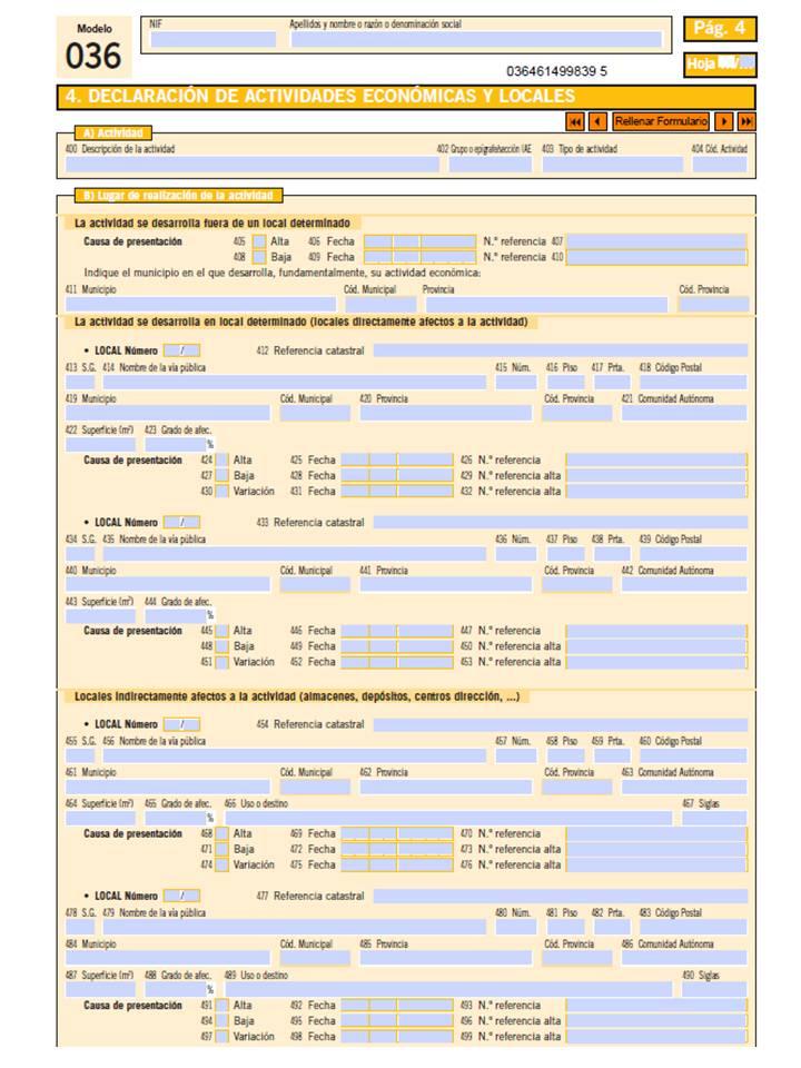 Modelo 036. Pagina 4